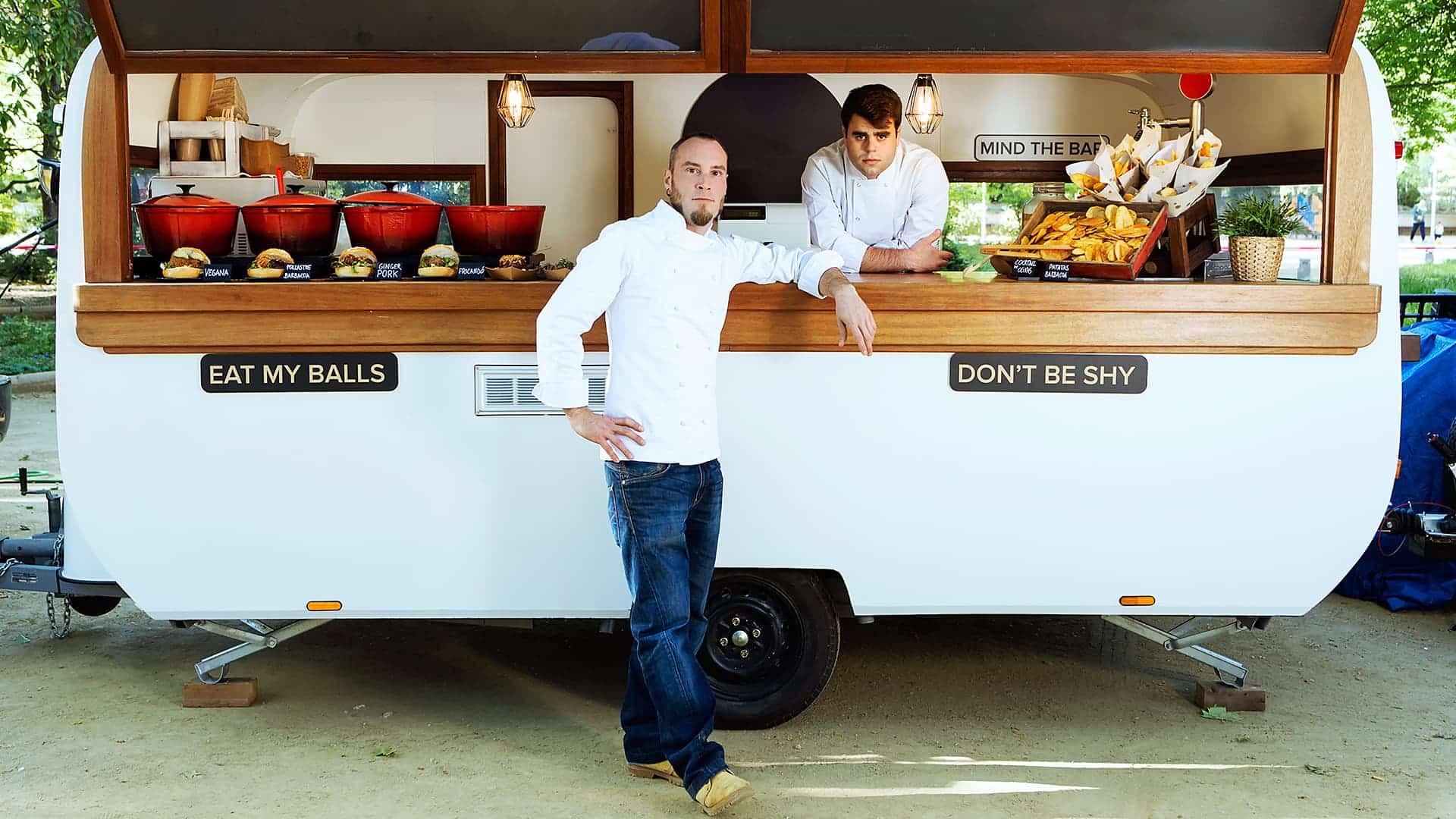 Mobiles catering mit Imbisswagen